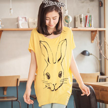 【限時$168】無限可愛長耳兔寬袖上衣