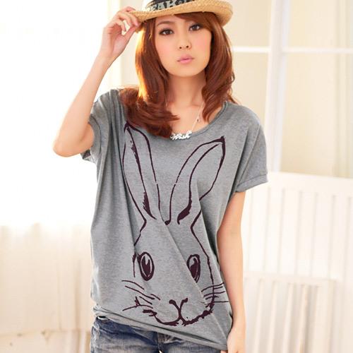 無限可愛長耳兔寬袖上衣(共2色)