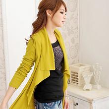韓版時尚開襟不規則長版外套 (共7色)