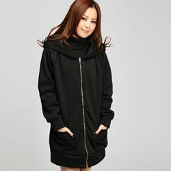 涉谷甜心玫瑰領連帽刷毛外套(共4色)