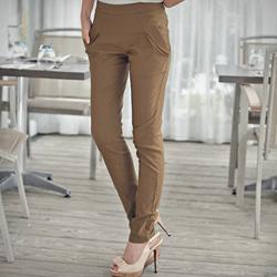 高雅俐落雙層口袋老爺鉛筆褲 M-L (共3色)