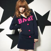 美式淘氣BABE刷毛外套+褲裙