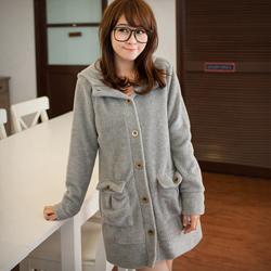 超熱賣雙面刷毛銅釦外套M~L(共6色)