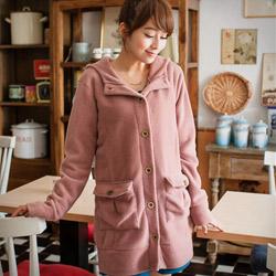 超熱賣雙面刷毛銅釦外套M~L