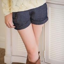 復刻韓品千鳥格厚針織反折短褲(共2色)