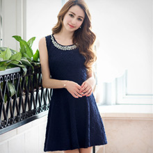 典雅佳麗壓紋背心毛料洋裝M~L(共2色)