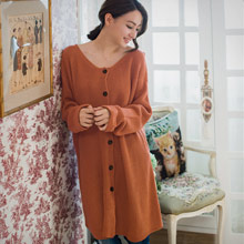 溫柔恬靜反折袖厚針織外套(共2色)