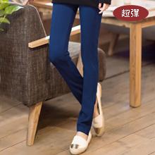 激瘦修身車線彈力鉛筆褲M~XL