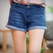 街頭關鍵刷色反折牛仔短褲S~XL
