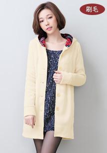 名媛美姬格紋蝴蝶結排釦外套