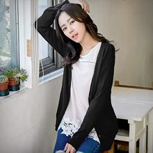 韓版V領開釦針織外套