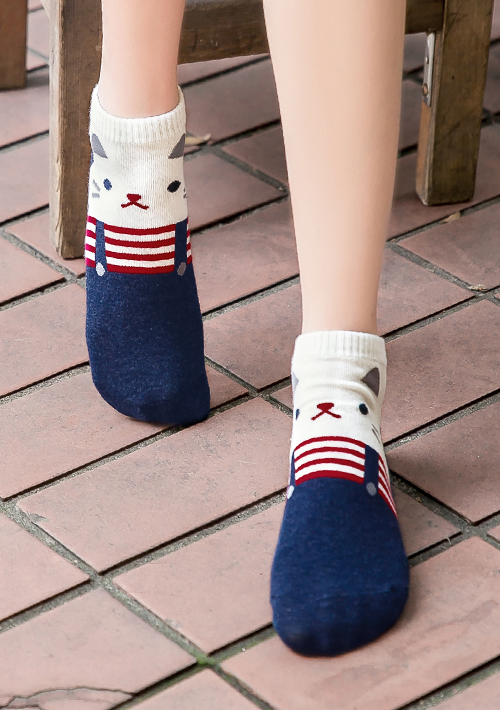 淘氣可愛動物短襪
