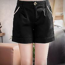 圓點口袋造型休閒短褲M~XL