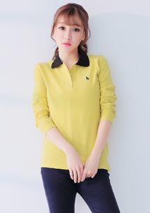 經典柔感配色領POLO衫