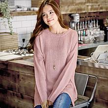 韓版粉嫩氣質針織毛衣