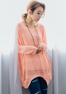 細緻條紋造型針織上衣