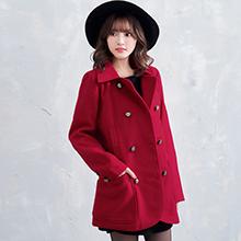 典雅英式雙排釦大衣外套M-L