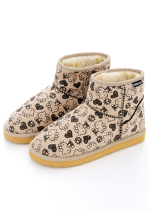 Hello Kitty專屬質感內絨毛雪靴