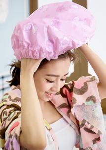 Hello Kitty印花SPA防水護髮浴帽