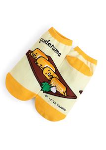 蛋黃哥透氣舒適棉質短襪