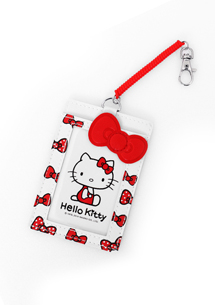 Hello Kitty 蝴蝶結伸縮票卡夾