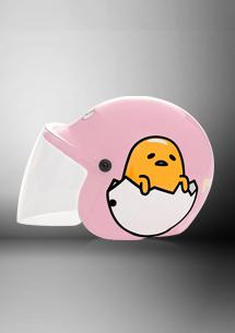 蛋黃哥3/4罩安全帽-附鏡片