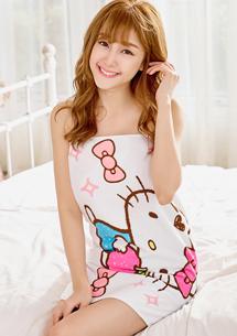 Hello Kitty 舒柔純棉紗布浴巾