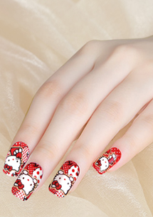 Hello Kitty 甜美可愛指甲貼