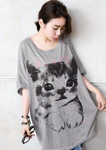 俏皮可愛貓咪寬鬆上衣