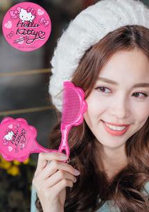 Hello Kitty x 雙子星 隨身鏡梳組