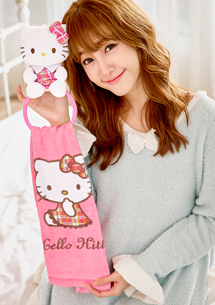 Hello Kitty 可愛娃娃掛式擦手巾