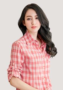 輕甜閒適格紋襯衫