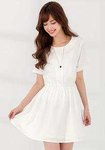 柔情氣質蕾絲袖洋裝