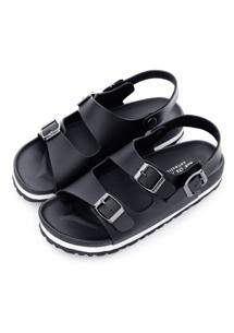 簡約潮流雙釦環涼鞋