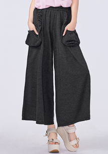 潮感造型口袋寬褲