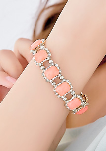 名模氣息亮鑽寶石手環