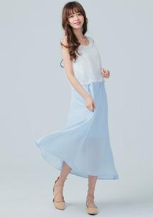 典雅修身蕾絲長洋裝
