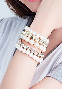 氣質款珍珠手鍊組