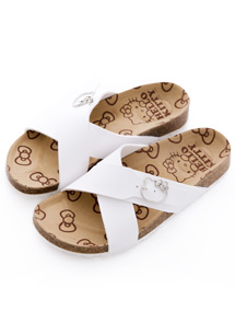 KITTY環釦交叉帶勃肯拖鞋