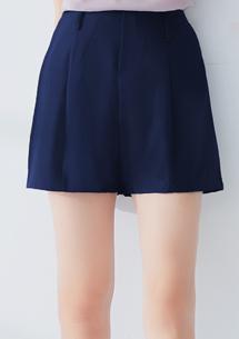 俐落美感打摺西裝短褲