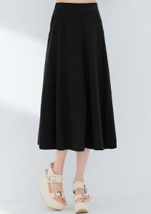 經典棉質口袋長裙