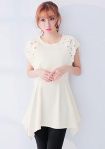 輕甜美人雕花洋裝