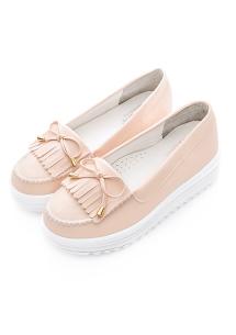 蝴蝶結流蘇厚底鞋