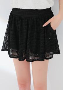 雅緻夢幻蕾絲短襯裙