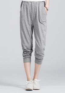 舒適棉質口袋休閒褲