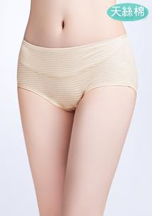 天絲棉條紋三角褲