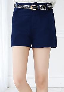 俏麗百搭美型短褲-附皮帶
