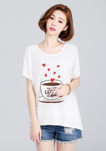 咖啡情緣印圖上衣