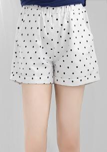點點滿版反折短褲