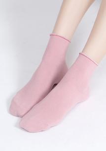 多彩舒適捲邊純棉襪